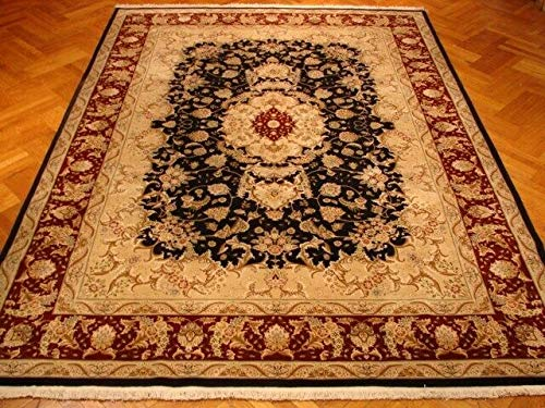 9x12 Black Sarouk High End Wool & Silk Wool & Silk Handmade Area Rug