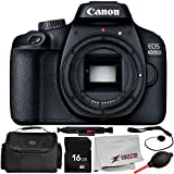 Canon EOS 4000D Digital Camera (Body Only) 7PC Accessory Bundle – Includes 16GB Memory Card + Carrying Case + More - International Version (No Warranty)