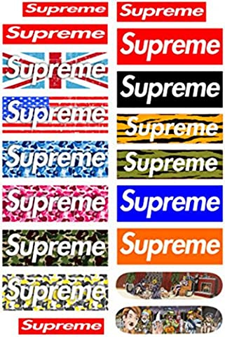 Supreme Snowboard Vehicles Skateboard Vinyl Car Stickers in one A4 Page Code F0133 (Country Lyrics Sticker)