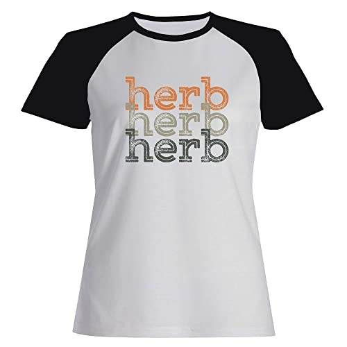 Idakoos Herb repeat retro – Nomi Maschili – Maglietta Raglan Donna