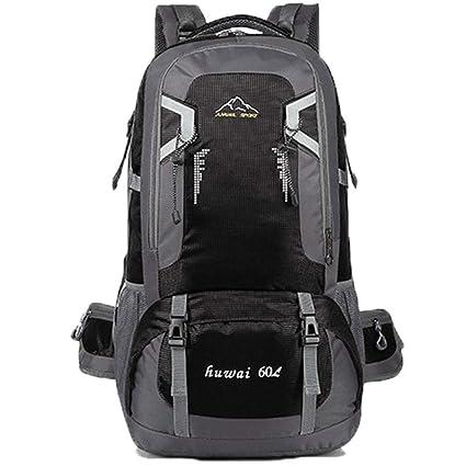 9665b9c2f1 perfect woman0311 60L Waterproof Outdoor Climb Travel Large Backpack  Camping Hiking Rucksack Bag (Black)