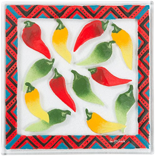 Pavilion- Chili Pepper Mexican 7'' Square Dining Plate by Pavilion Gift Company