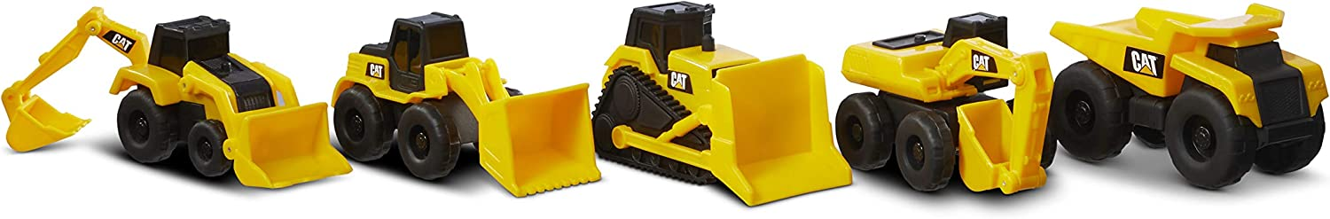 Caterpillar Little Machines 5 Pack Vehículos de construcción, Color Amarillo (Funrise International 82150)