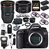 Canon EOS 5DS 5D S DSLR Camera + EF 24-70mm f/2.8L II USM Lens + Canon EF 50mm f/1.8 STM Lens + LPE-6 Lithium Ion Battery + Canon 100ES EOS shoulder bag Bundle 15