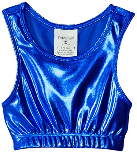(Danskin Little Girls' Gymnastics Basics Crop Top, Royal Blue, Small)