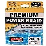 Scotty Power Braid Downrigger Line (200# Test), 200-Feet Spool, Black by Scotty