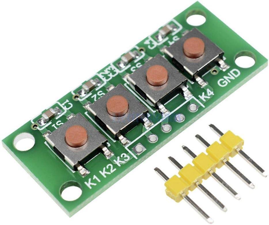 ILS – 5 Unidades 1 x 4 4 Llaves de botón 5 Pines Teclado ...
