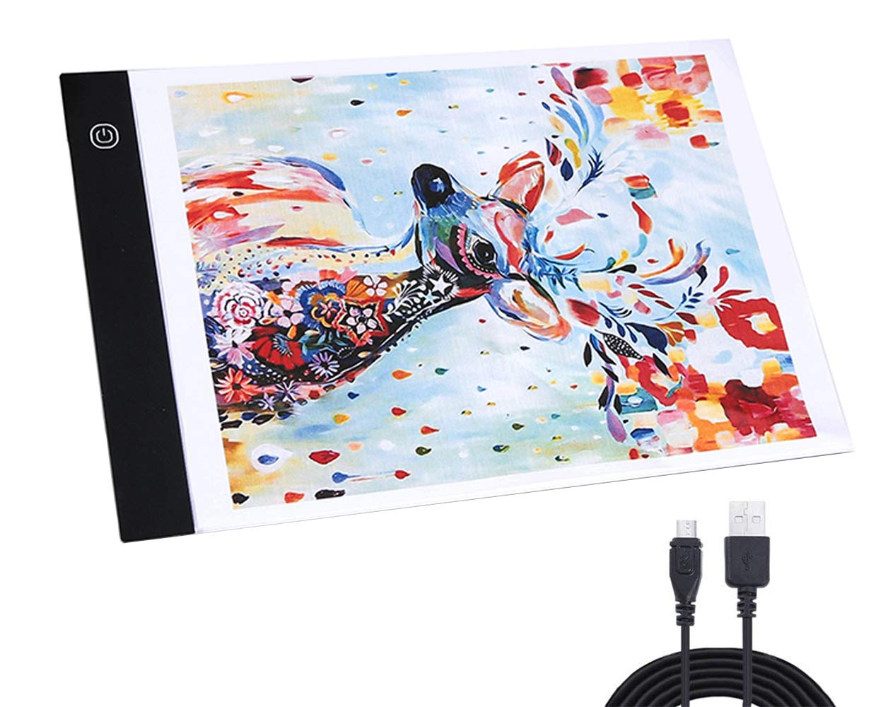 A4 LED Light Box Tracer USB Power Adjustable LED Light Tablet Board Pad for 5D DIY Diamond Painting by KSM UP
