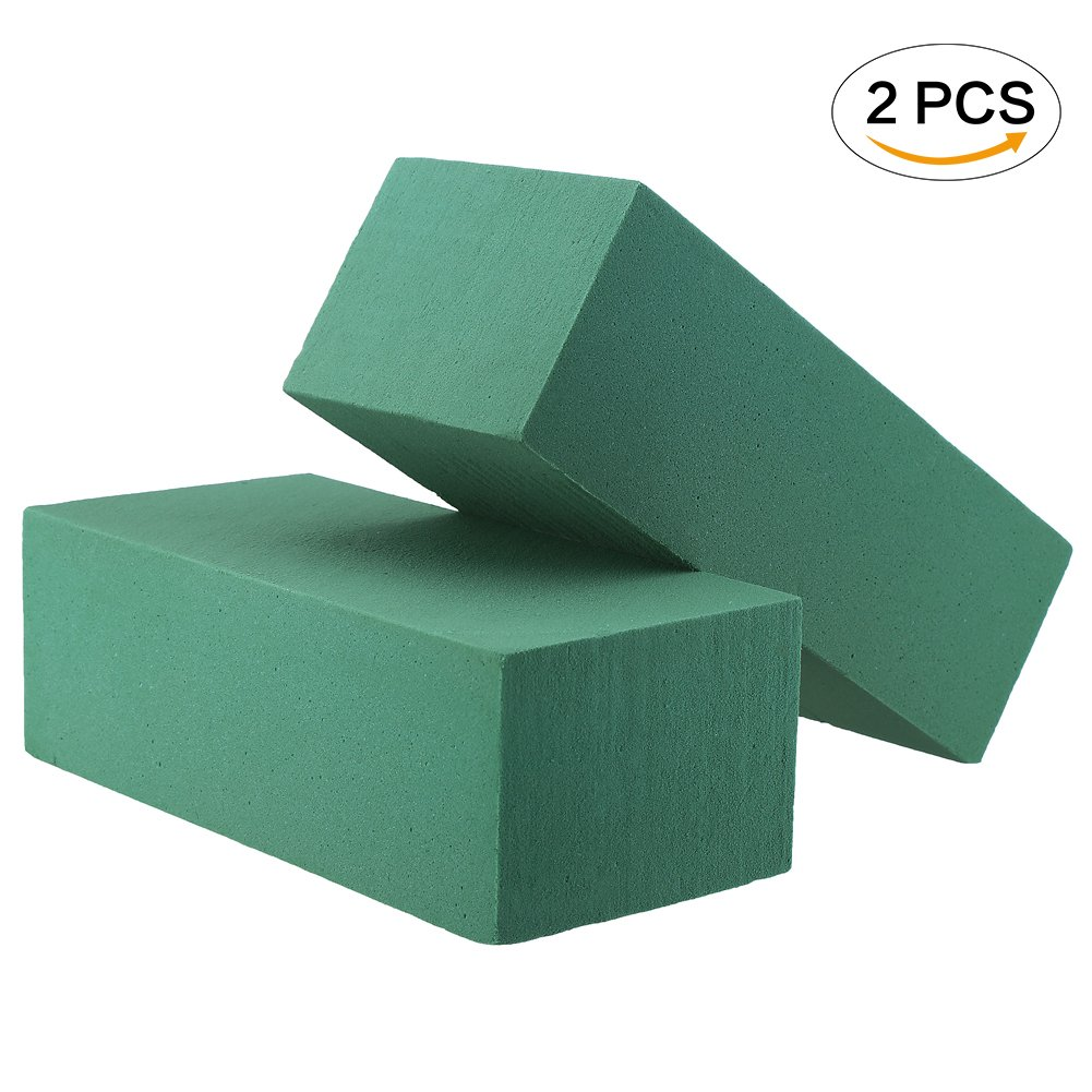 FINGOOO 2 Pack Floral Foam Blocks 3 X 4 X 9 for Crafts or Flowers Arrangement Green