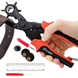 Leather Hole Punch Set for Belts, Watch Bands, Straps, Dog Collars, Saddles, Shoes, Fabric, DIY Home or Craft Projects. Super