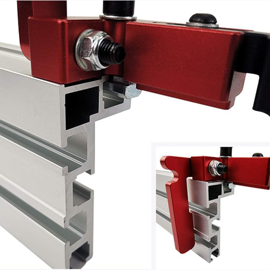 BIlinli /75mm H/öhe T-Schienen Stop Gehrungslehre Tischkreiss/äge T-Nut Stopper Holzbearbeitungswerkzeug