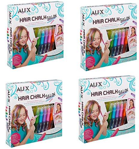 ALEX Spa Hair Chalk Salon, zrIUao 4 Pack by ALEX Toys