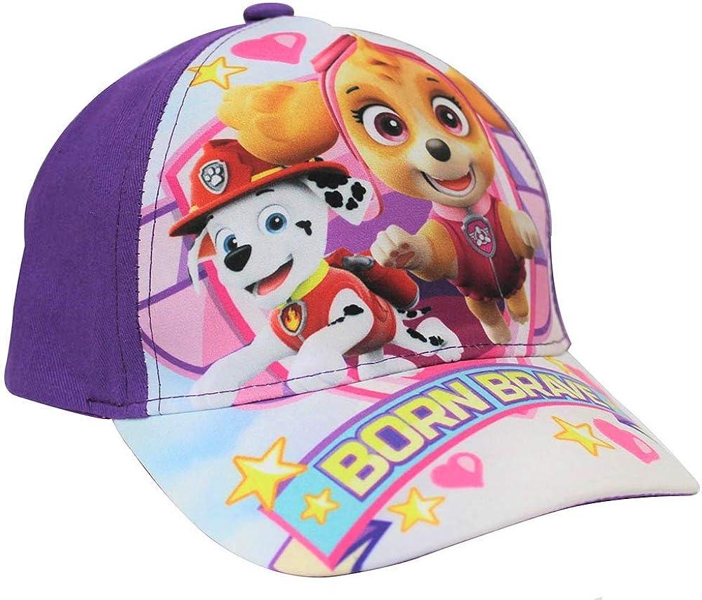 Paw Patrol cap Born Brave con i Cuccioli Skye ed Everest Cappellino da Baseball Kappy Berretto per Bambini con Motivo Cane