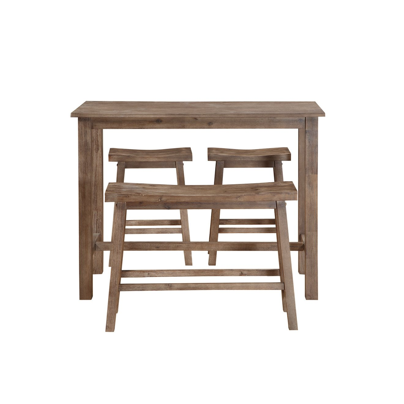 Pleasant Amazon Com Svitlife Sonoma Brown Wood 4 Piece Pub Set With Home Interior And Landscaping Dextoversignezvosmurscom