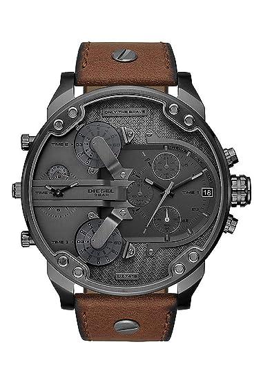 Diesel Reloj Cronógrafo para Hombre de Cuarzo con Correa en Cuero ...