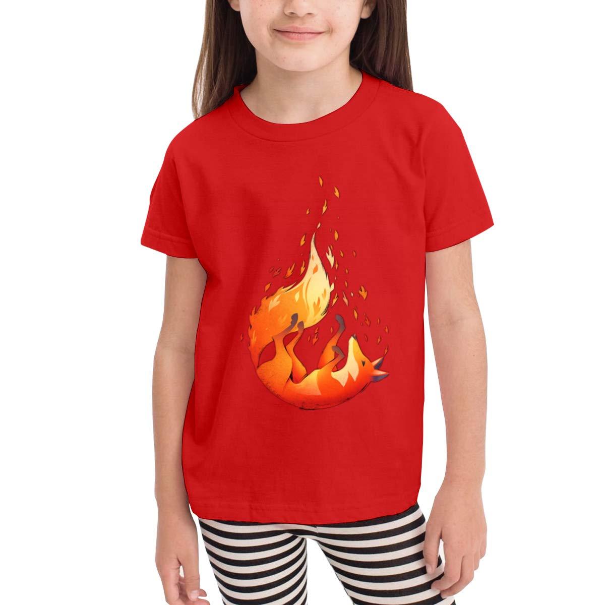 Failing Fox 100/% Cotton Toddler Baby Boys Girls Kids Short Sleeve T Shirt Top Tee Clothes 2-6 T
