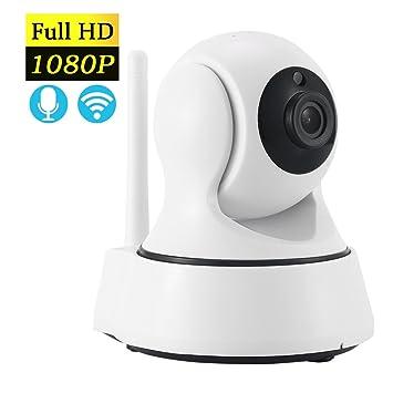 INKER Cámara IP WIFI Motorizada HD1080P Sistema de Cámara de Vigilancia Inalámbrico Blanco