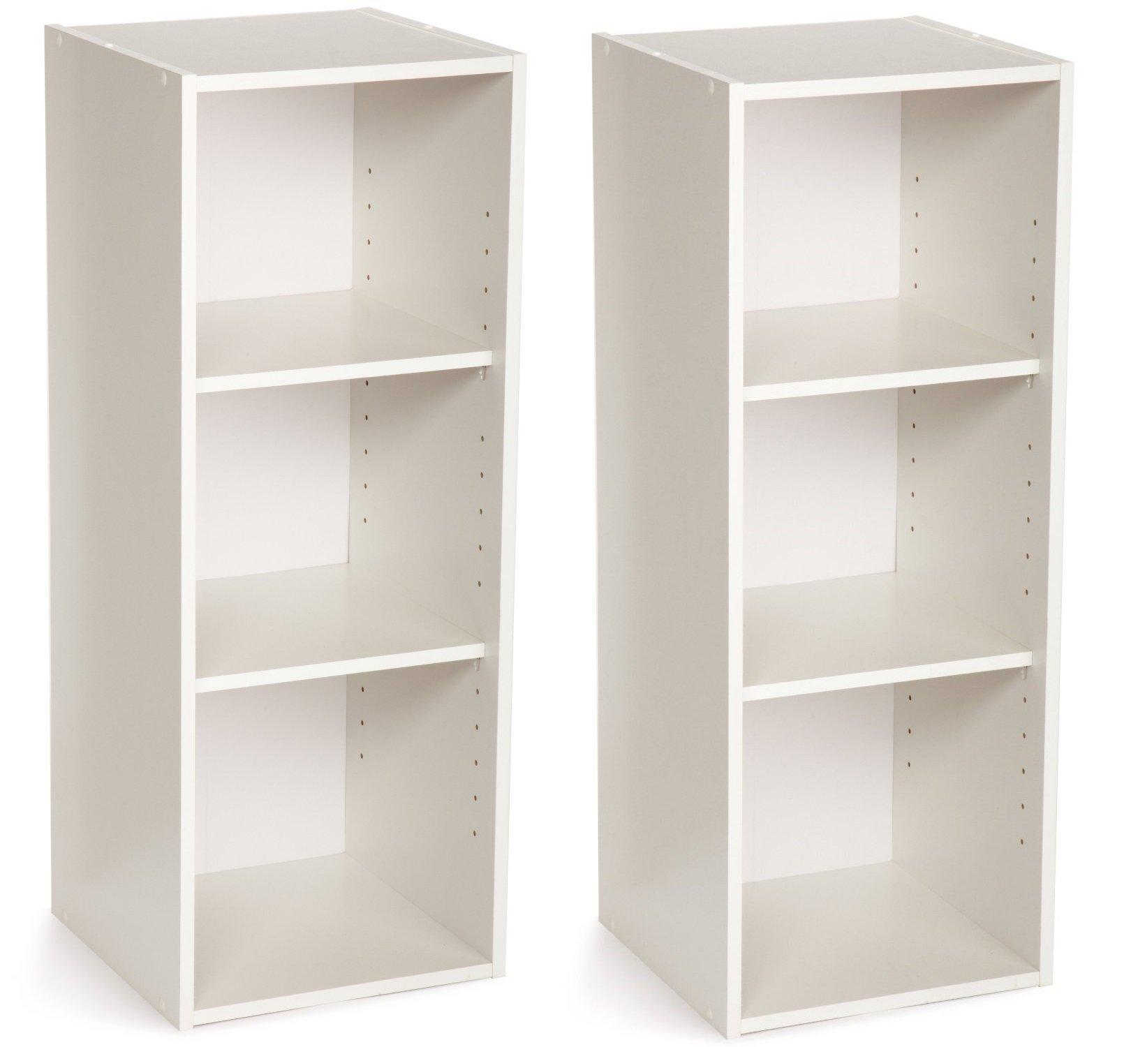 ClosetMaid 8987 Stackable 3-Shelf Organizer, White, 2-Pack