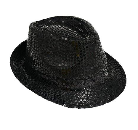 mejores ofertas en navegar por las últimas colecciones boutique de salida Michael Jackson Sequin Fancy Dress Fedora Trilby Hat (gorro/sombrero)