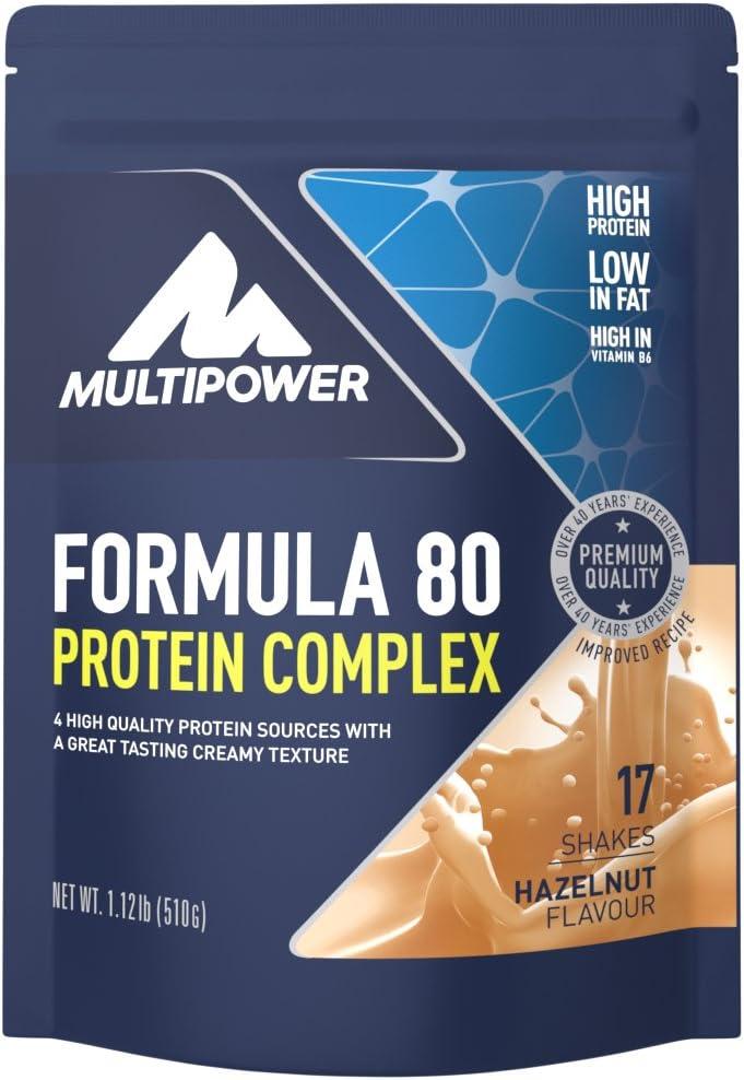 Multipower Formula 80, Sabor Hazelnut - 510 gr