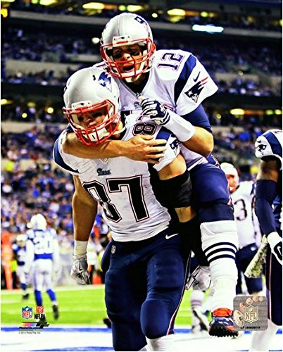 "Tom Brady Rob Gronkowski New England Patriots NFL Action Photo (Size: 8"" x 10"")"