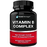 Vitamin B Complex Vitamins B12, B1, B2, B3, B5, B6, B7, B9, Folic Acid - Super B...