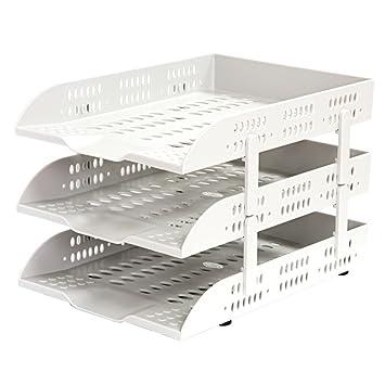 bandeja de plástico carta, Colección de 3 niveles estante del escritorio de oficina, se