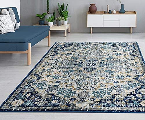 Luxe Weavers Blue Oriental 8×10 Area Rug
