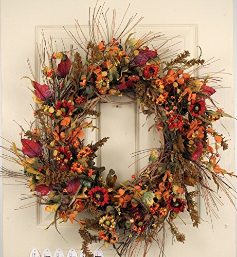 Chatham Autumn Silk Fall Wreath 22 in