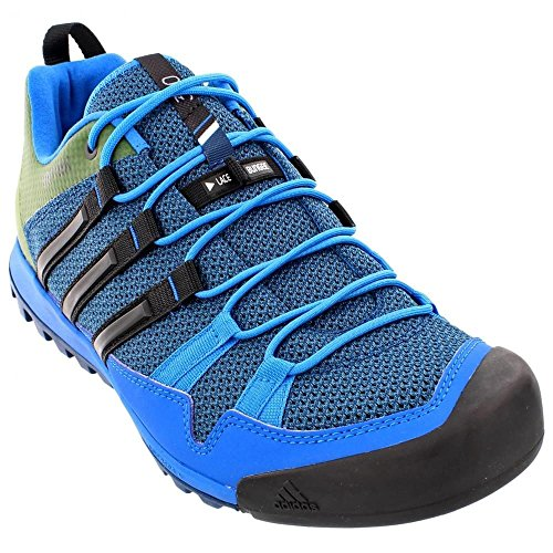 Adidas Terrex al aire libre Solo Enfoque de zapatos Negro / vista gris / blanco tiza 6 Tech Steel/Black/Blanch Blue