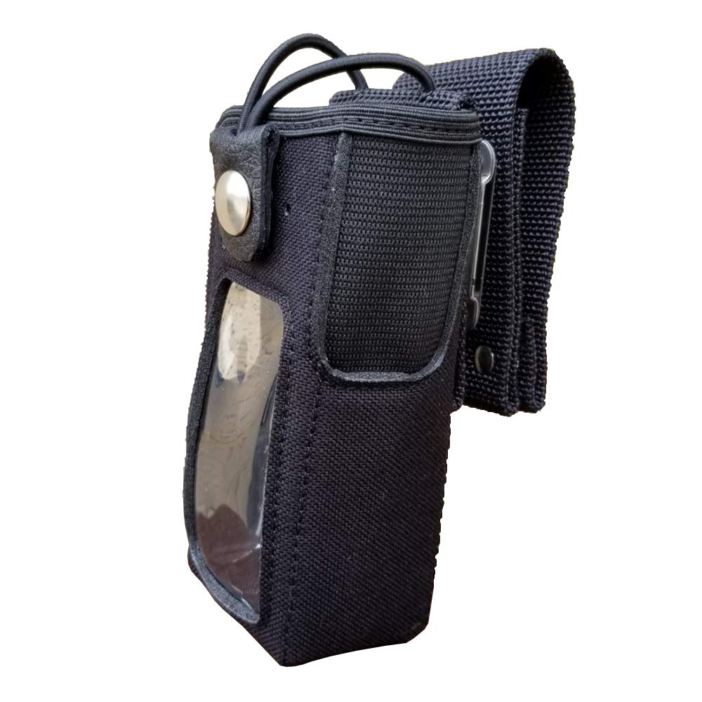Case Guys MR8555-5BW Rigid Nylon Swivel Belt Loop Holster Case with Bungee Cord for Motorola XPR 7550 XPR 7580e Two Way Radios