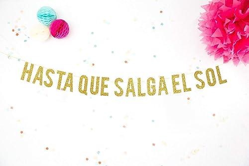 Guirnalda Purpurina Dorada Fiesta de Cumpleaños Hasta que ...