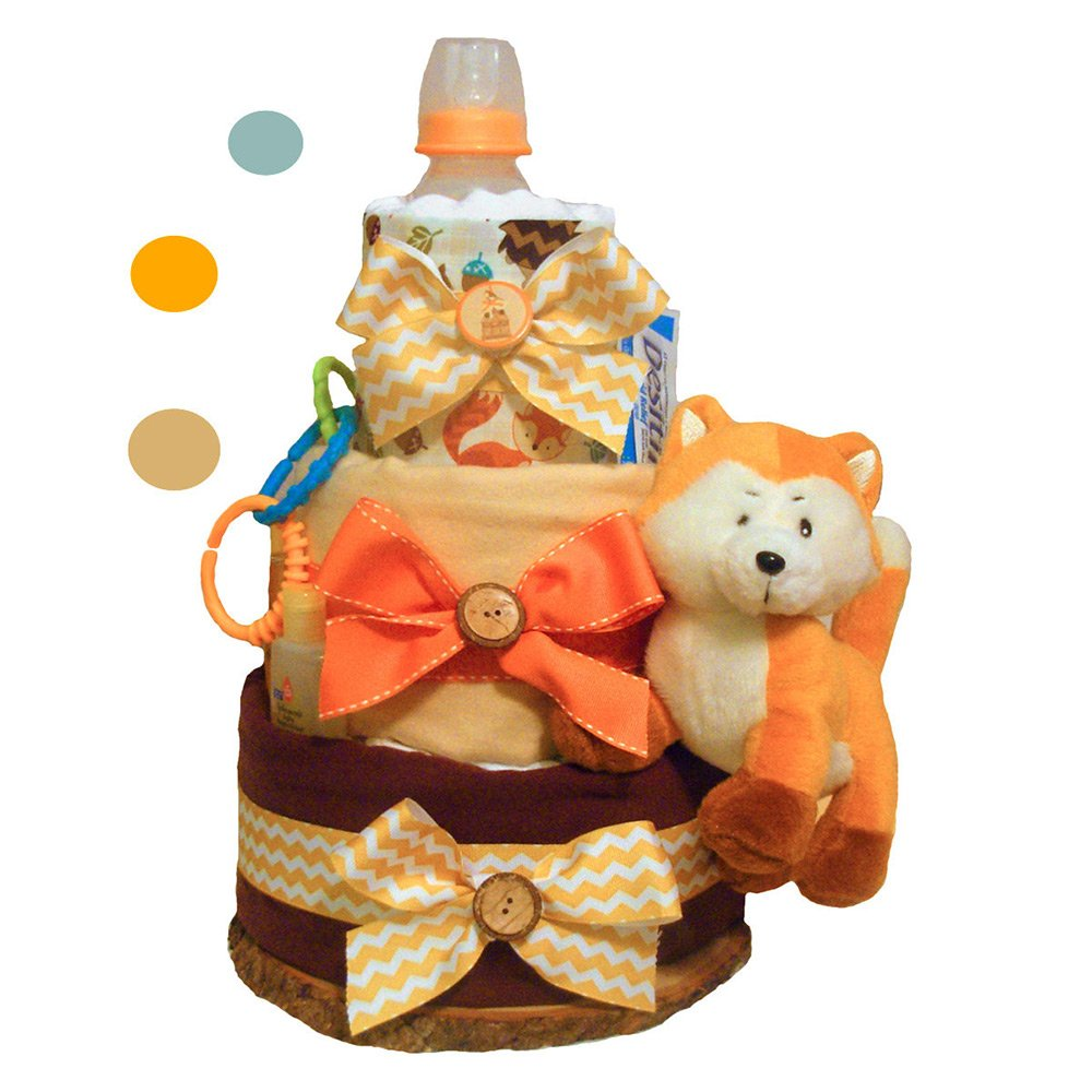 Forest Fox Diaper Cake - Party Supplies by Tumbleweed Babies