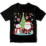 Wallaby Kids Santa's Cute Christmas Party 100% Cotton Boy's T-Shirt