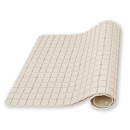 0094c13e1d71 UrsoKuz Non Slip Minimalist Shower Mat Bath Mat - Colour Beige - Matte  Finish Surface & Suction Grips Back - 69.5 x 40 cm (27.3 x 15.7-inch):  Amazon.co.uk: ...