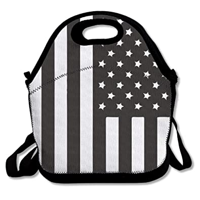 96383f1f076e Amazon.com: USA American Flag Lunch Box Bag Lunch Tote Lunch Holder ...