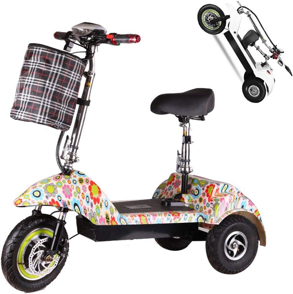 Z-HBMT Triciclo eléctrico Adulto,150 kg Carga máxima,Movilidad eléctrica de Triciclo Plegable y portátil Scooters eléctricos,batería de Litio 36V 10AH con luz LED y Pantalla HD - Múltiples Estilos,B