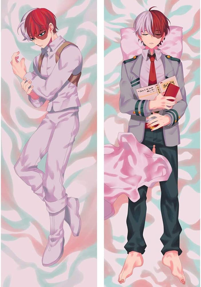 Cukudy Japanese Cartoon Anime Body Pillow Cover Full Length Cosplay Hugging Pillowcase 20x54 Inches