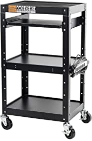 Pearington AV and Presentation Cart Stand for Video Projector, TV, Laptop Computers, Printers-Metal Construction Rolling Stor