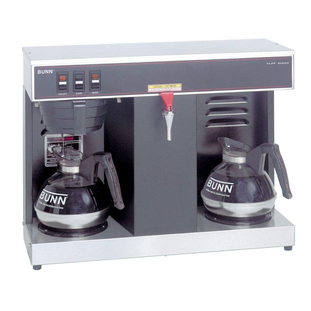 Image of Bunn 07400.0005 VLPF Professional Automatic Coffee Brewer with 2 Warmers (120V) Commercial Espresso Machines & Coffee Makers