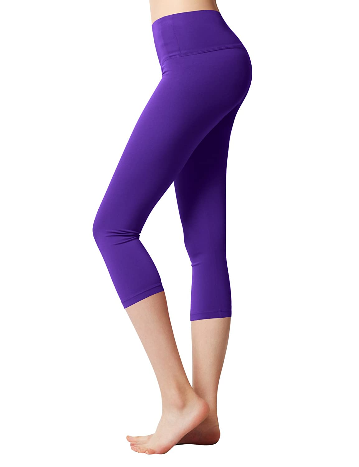 ACTICLO Yoga Pants High Waist Tummy Control Sports Running Workout Power Flex Leggings Hidden Pocket Plus size(XS-3XL)