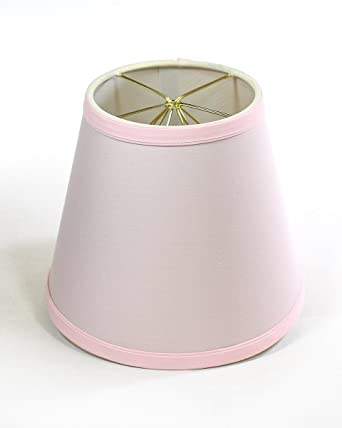 5x8x7 Empire Linen Edison Clip On Lampshade Pale Dogwood Pink By