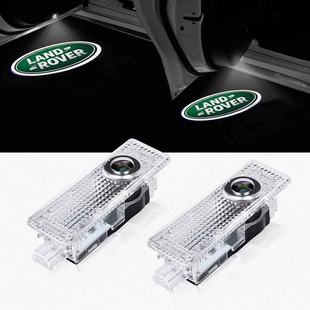 Car Door LED Logo HD Projector puddle Lights Welcome Light Ghost Shadow for Land Rover Range Rover LR2 LR3 LR4 for Land Rover Evoque Freelander Accessories (2 Pack)