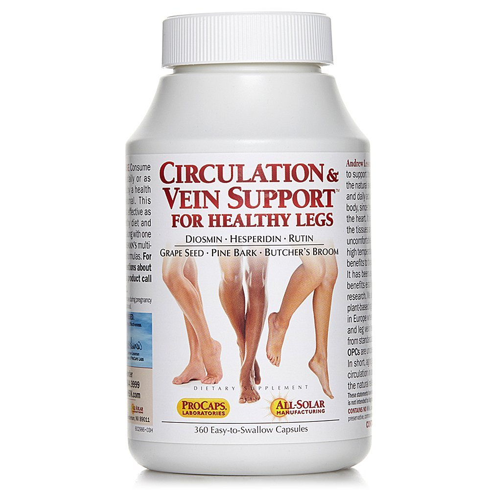 Amazon.com: Circulation & Vein Support for Healthy Legs 30 ...