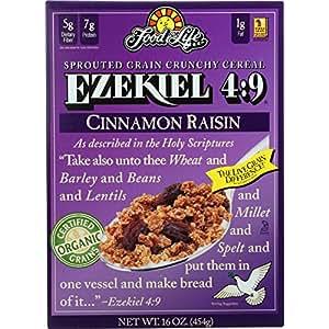 Food for Life, Ezekiel 4:9 Organic Sprouted Grain Cereal, Cinnamon Raisin, 16 oz