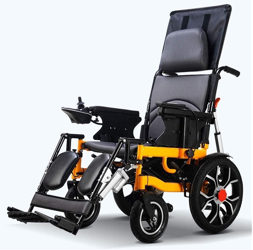 Duan hai rong Silla de Ruedas eléctrica Plegable, Scooter motorizado Ligero de Peso Total Silla de Ruedas propulsada Carga de 100 kg for Personas Mayores discapacitadas sillas de Ruedas electricas