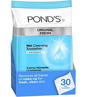 PONDS Original Fresh Wet Cleansing Towelettes, 30-Count (Pack of ...