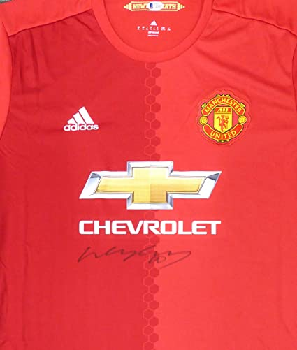 2531a03b393 Wayne Rooney Autographed Manchester United Authentic Red Jersey Size XL  Beckett BAS #E17418