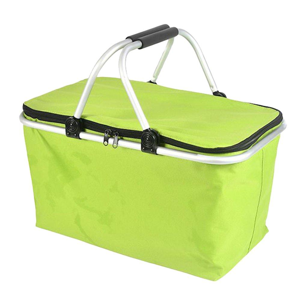 Dexinx Staubdicht Faltbarer Lunchbox Kühlung Einkaufskorb Isolierung Robust Picknick-Box Im Freien Blau 48*28*24cm