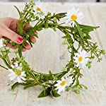 Artificial-Spring-Daisy-Floral-Candle-Ring-for-Home-and-Spring-Decor